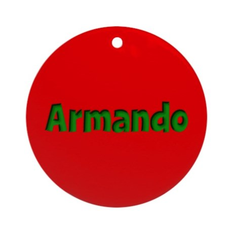 Armando Red and Green Ornament (Round)
