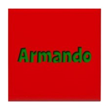 Armando Red and Green Tile Coaster