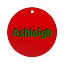Ashleigh Red and Green Ornament (Round)