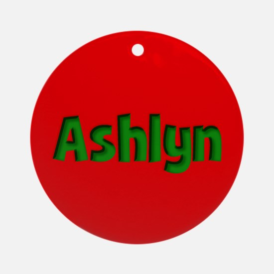 Ashlyn Red and Green Ornament (Round)