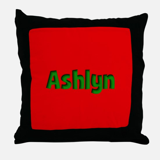 Ashlyn Red and Green Throw Pillow