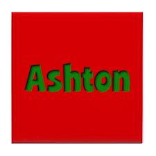 Ashton Red and Green Tile Coaster