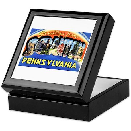 Scranton Pennsylvania Greetings Keepsake Box