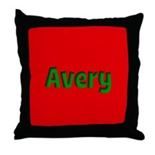 Avery Red and Green Throw Pillow