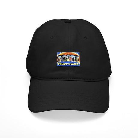 Scranton Pennsylvania Greetings Black Cap
