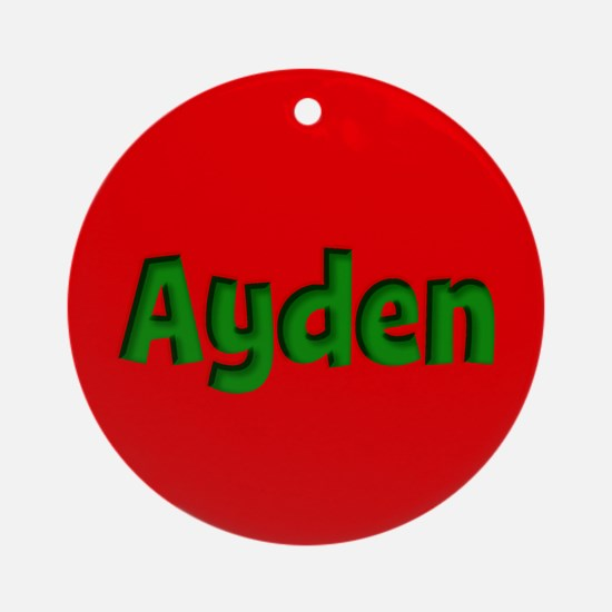 Ayden Red and Green Ornament (Round)