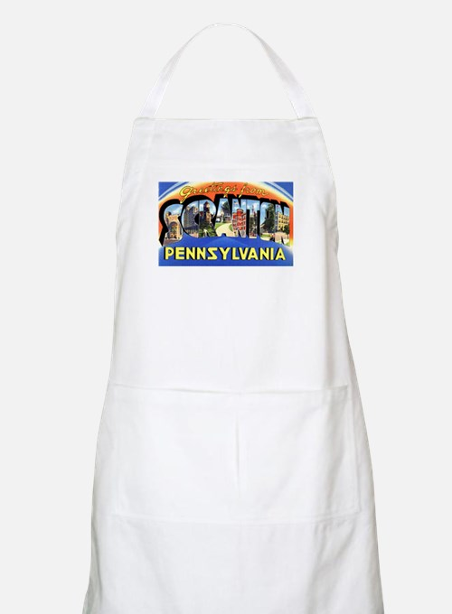 Scranton Pennsylvania Greetings BBQ Apron