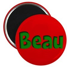 Beau Red and Green Magnet