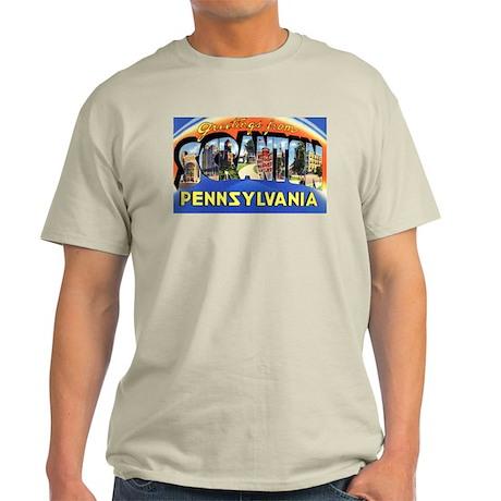 Scranton Pennsylvania Greetings Ash Grey T-Shirt