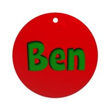 Ben Red and Green Ornament (Round)