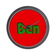 Ben Red and Green Wall Clock