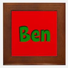 Ben Red and Green Framed Tile
