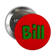 "Bill Red and Green 2.25"" Button"