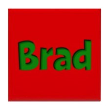 Brad Red and Green Tile Coaster