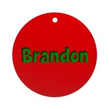 Brandon Red and Green Ornament (Round)