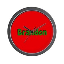 Brandon Red and Green Wall Clock
