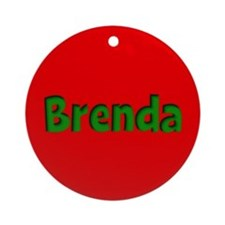 Brenda Red and Green Ornament (Round)
