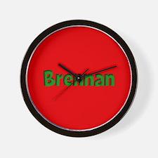 Brennan Red and Green Wall Clock