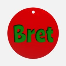 Bret Red and Green Ornament (Round)