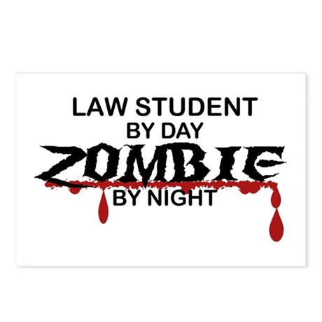 Law Student Zombie Postcards (Package of 8)