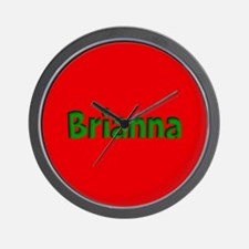 Brianna Red and Green Wall Clock