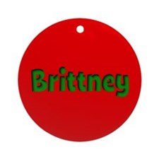 Brittney Red and Green Ornament (Round)