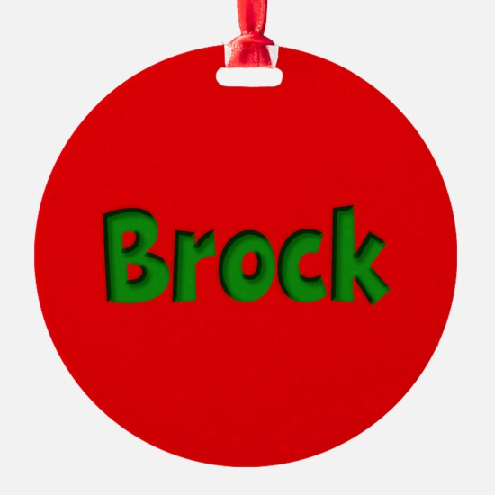 Brock Red and Green Ornament
