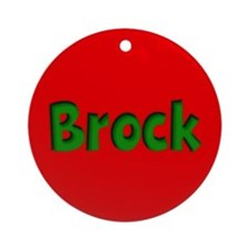 Brock Red and Green Ornament (Round)