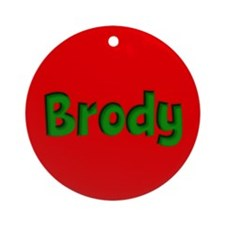 Brody Red and Green Ornament (Round)