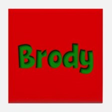 Brody Red and Green Tile Coaster