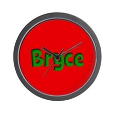 Bryce Red and Green Wall Clock