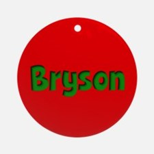 Bryson Red and Green Ornament (Round)