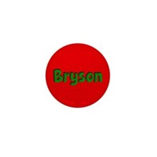 Bryson Red and Green Mini Button (10 pack)