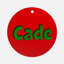 Cade Red and Green Ornament (Round)