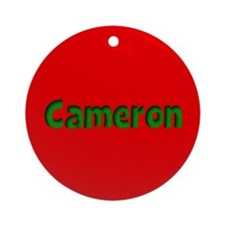 Cameron Red and Green Ornament (Round)