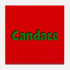 Candace Red and Green Tile Coaster