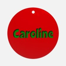Caroline Red and Green Ornament (Round)