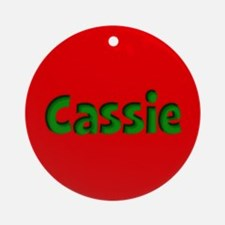 Cassie Red and Green Ornament (Round)