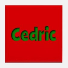 Cedric Red and Green Tile Coaster