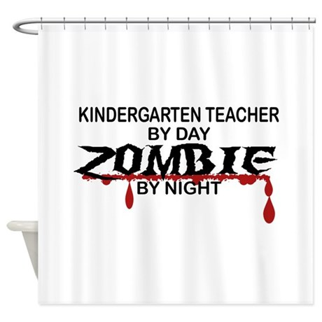 Kindergarten Teacher Zombie Shower Curtain