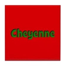 Cheyenne Red and Green Tile Coaster