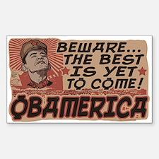 Beware Barack's Obamerica Decal