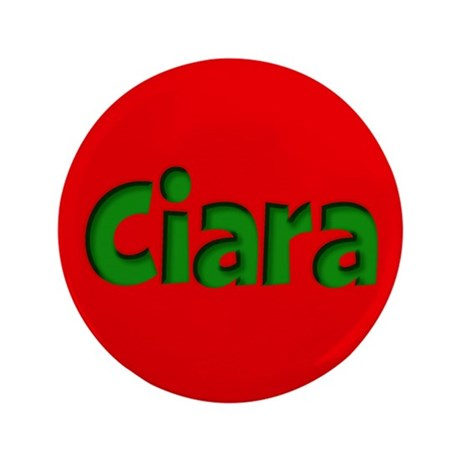 """Ciara Red and Green 3.5"""" Button"""