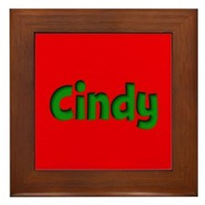Cindy Red and Green Framed Tile