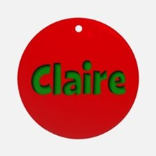 Claire Red and Green Ornament (Round)