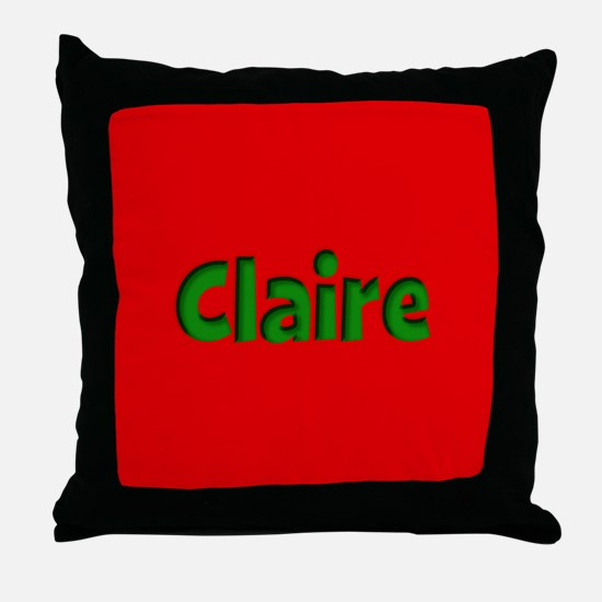 Claire Red and Green Throw Pillow