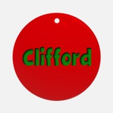 Clifford Red and Green Ornament (Round)
