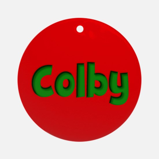 Colby Red and Green Ornament (Round)