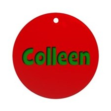 Colleen Red and Green Ornament (Round)