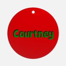 Courtney Red and Green Ornament (Round)